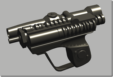 Imperial Scout Blaster inside AutoCAD - realistic