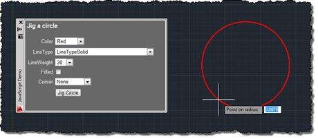 Jigging a circle using JavaScript