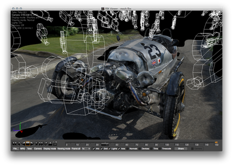 FBX Viewer showing the M3W FBX
