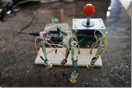 Joystick-controlled lasers