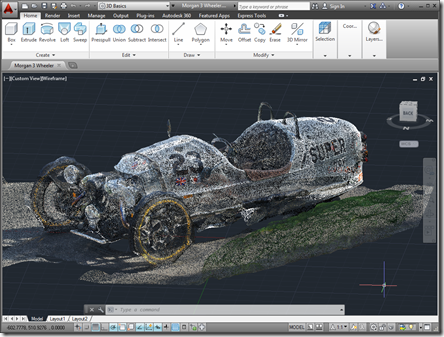 The RCS file inside AutoCAD 2014