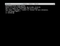 Through the Interface: Python