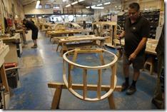 A 3 Wheeler frame being built