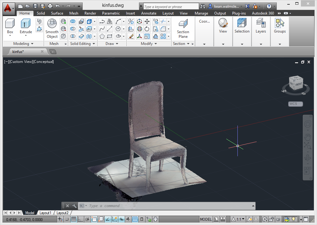 Kinect Fusion: comparing approaches for point cloud