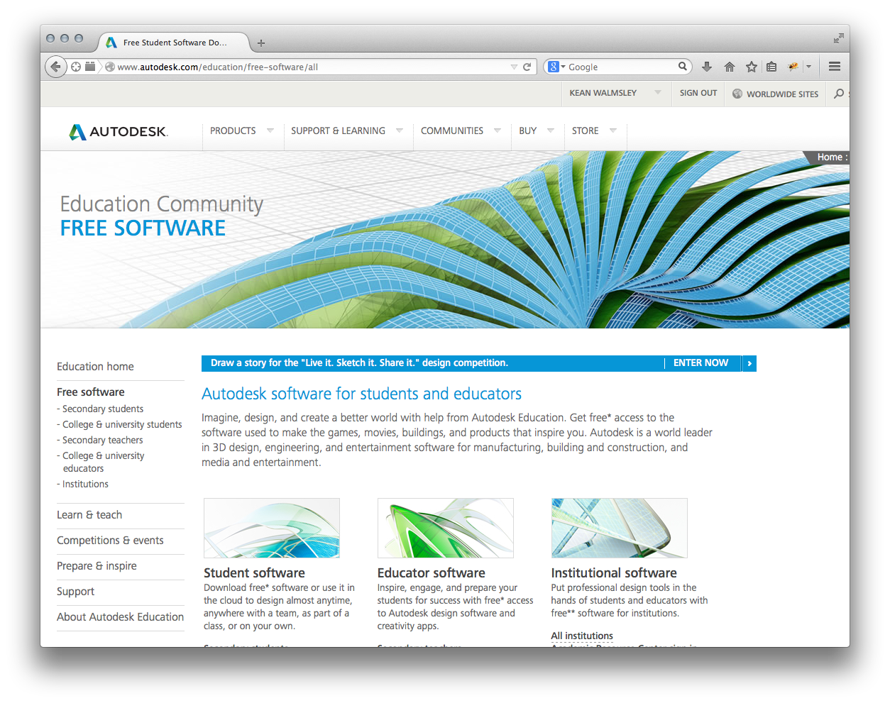 Free Autodesk software for students and educators - Through the