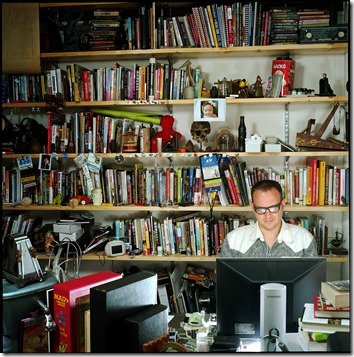 Cory Doctorow in his office