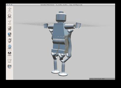 Lego minifig on stilts
