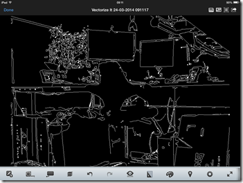 The drawing in AutoCAD 360