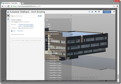 The new viewer in the Autodesk 360 Tech Preview