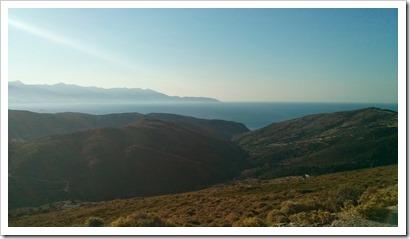 View across the island