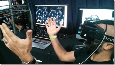 Leap Motion's Oculus Rift demo - keeping balls in the air
