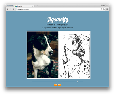 Screenshot of Jigsawify.com