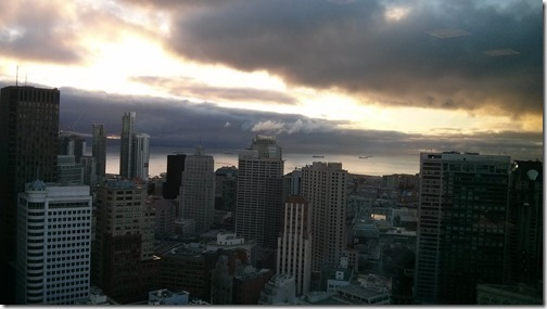 View from the Grand Hyatt across to the San Francisco Bay