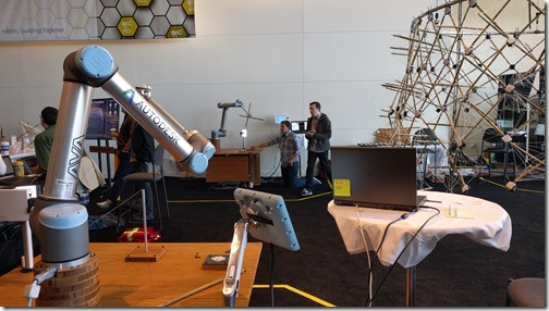 Robots building the Hive