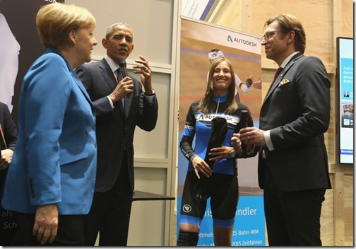 Obama and Merkel visit Autodesk at the Hannover Messe