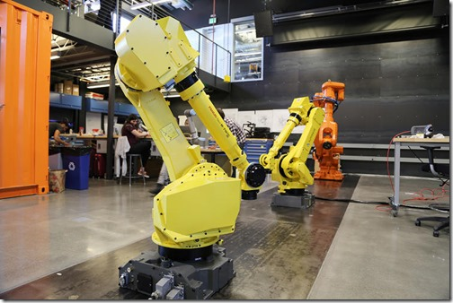 Robots at the Applied Research Lab on Pier 9