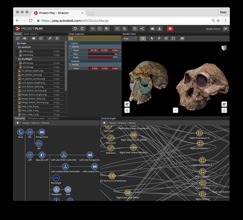 Merging skulls using Project Play