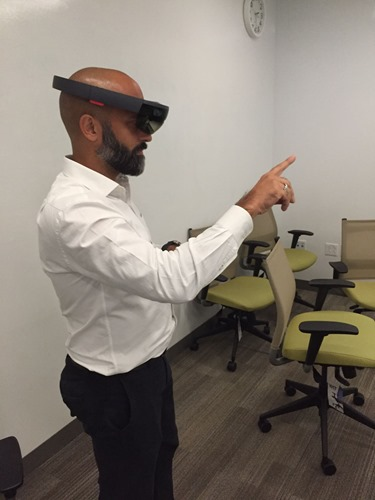 Demoing HoloLens to customers on Friday in Boston