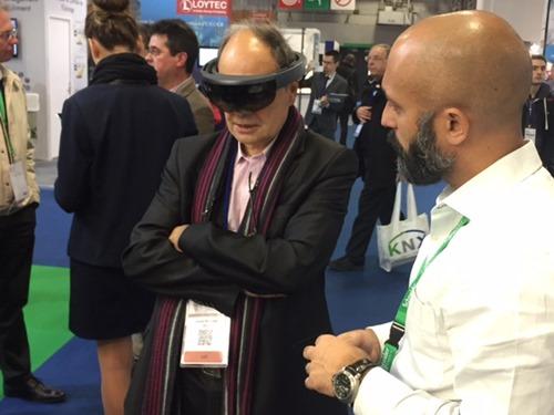 Demoing HoloLens again