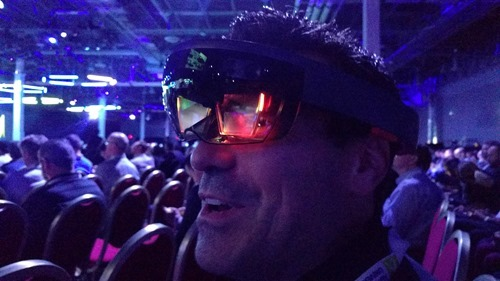HoloLens during the closing keynote