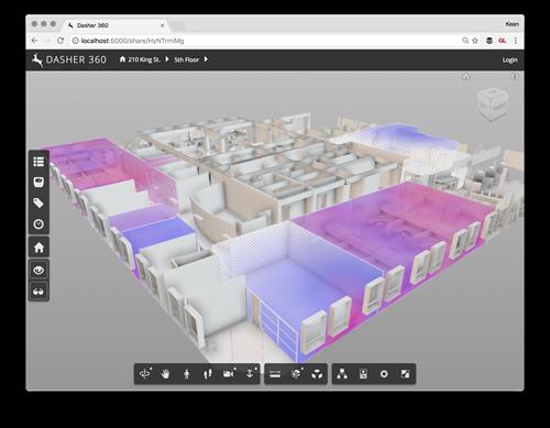 Heatmap based on actual sensor positions