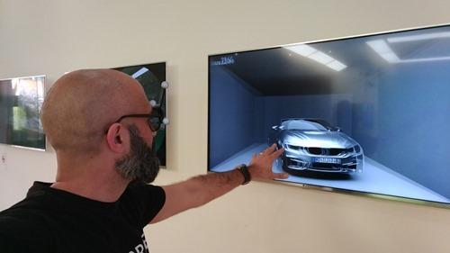 Stereo, head-tracked display