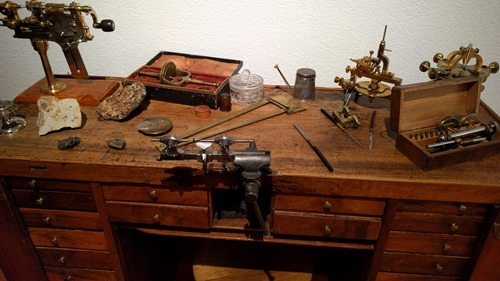 A watchmaker's bench