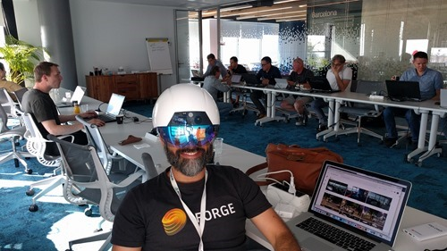 Trying the latest DAQRI Smart Helmet