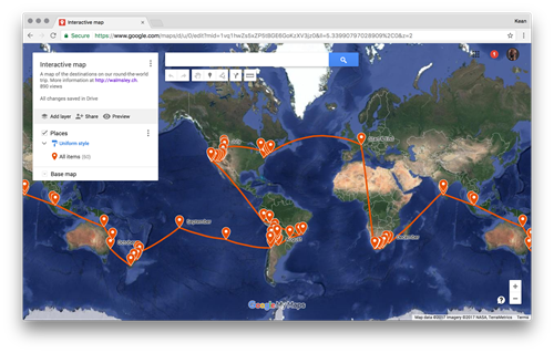 Displaying a round-the-world itinerary using Google Maps ... on geocoin world map, hp world map, att world map, coca-cola world map, apps world map, google earth, security world map, agile world map, blank world map, pepsi world map, microsoft world map, google maps street view, cities in greenland on a map, google search, barnes & noble world map, palm world map, national geographic world map, bing world map, gaming world map,