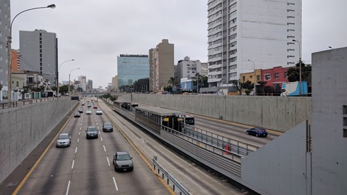 A Metro station in Lima