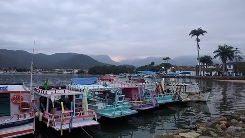 Boats at Paraty port