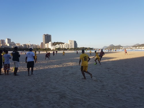 11-a-side beach football