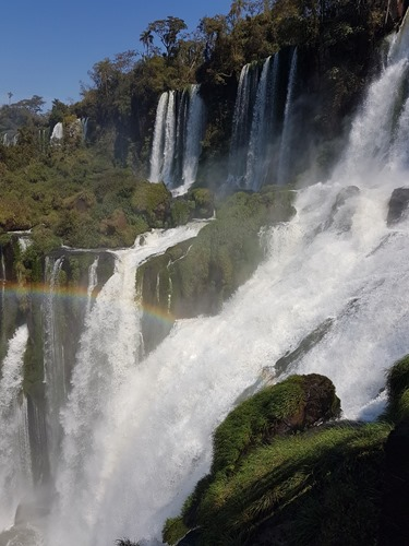 A rainbow over the falls