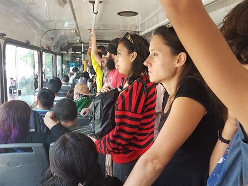 Taking a bus to San Javier