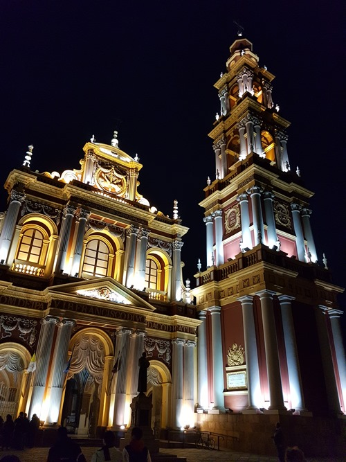 The church of San Francisco by night