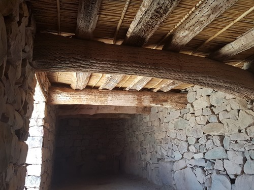 Inside one of the Pucara's buildings