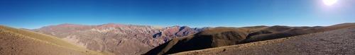The view over El Cerro de los Siete Colores from El Hornocal