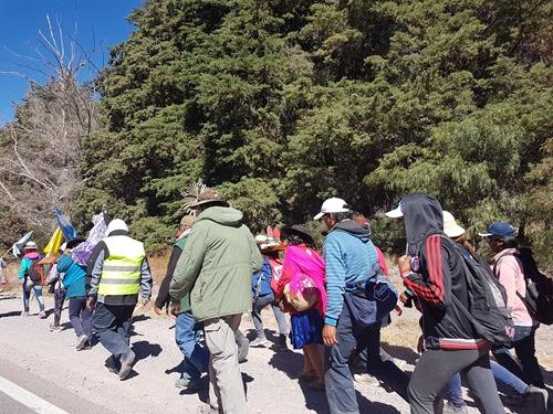 Pilgrims heading south