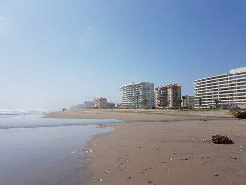 The view up La Serena beach