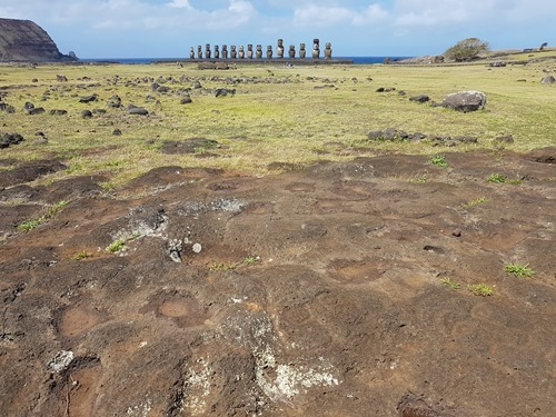 Petroglyphs and moai