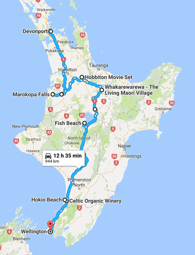 Our journey through the New Zealand's North Island