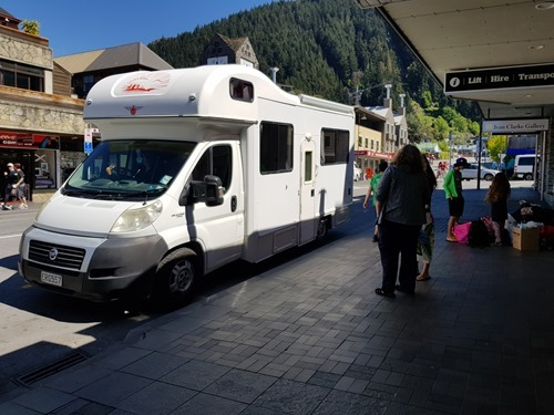 Dropping off in Queenstown