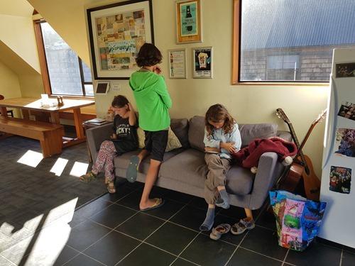 Hanging in the Adventure Queenstown Hostel