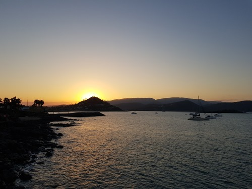 Sunset from the Airlie Beach boardwalk