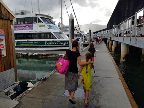 Heading through the Cairns marina