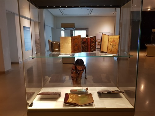 Inside the bookbinding exhibit