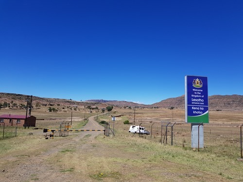 The view back into Lesotho