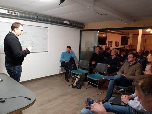 Alex presenting on the sensor network