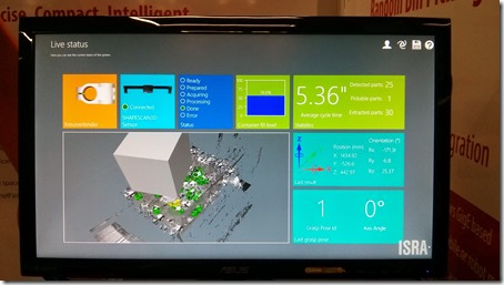 The Isra system dashboard
