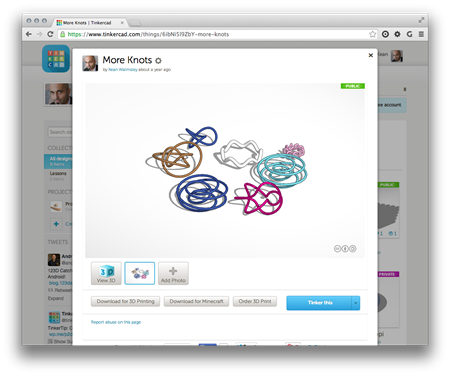Algorithmic objects in Tinkercad